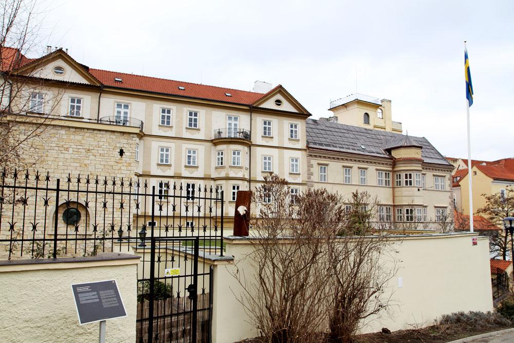 Svenska ambassaden i Prag (Foto: Prag.se)