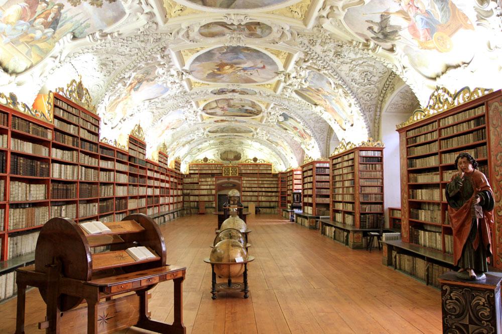 Strahov kloster bibliotek (Foto: Prag.se)