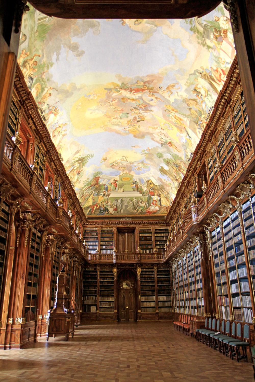 Strahov kloster bibliotek Filosofiska salen (Foto: Prag.se)