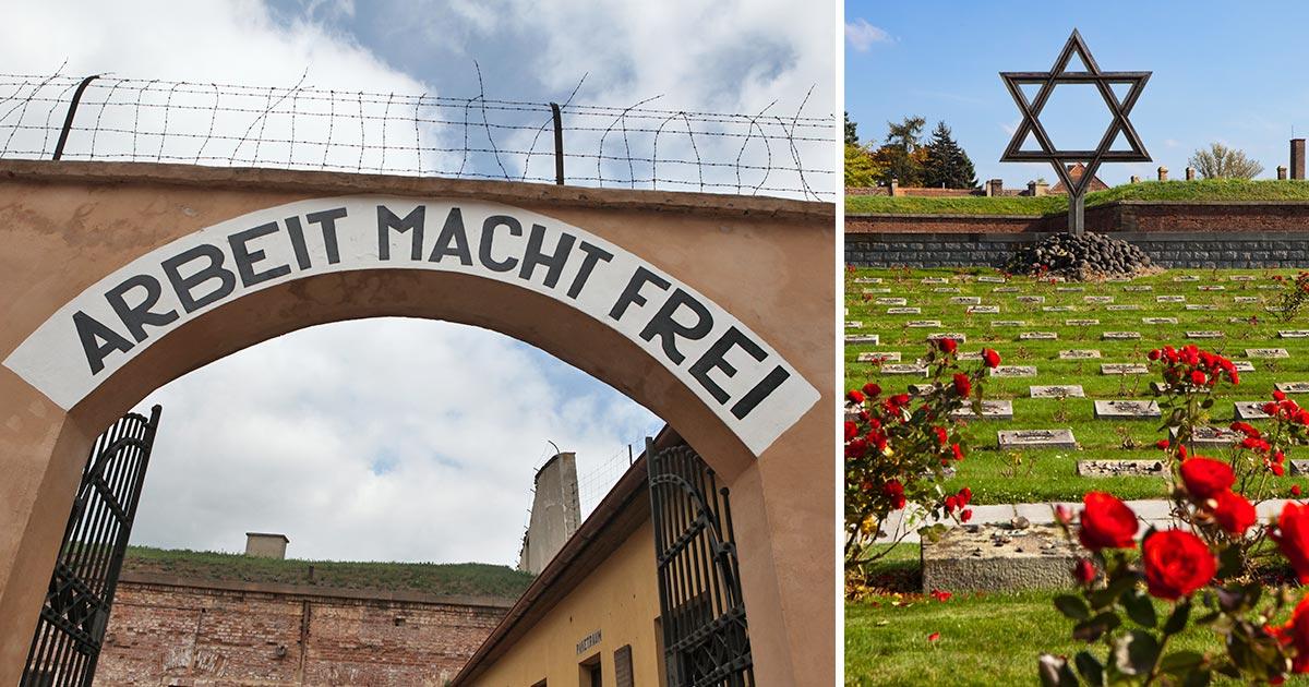 Theresienstadt koncentrationsläger i Terezin utanför Prag