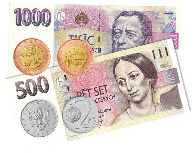 valuta pengar Tjeckien
