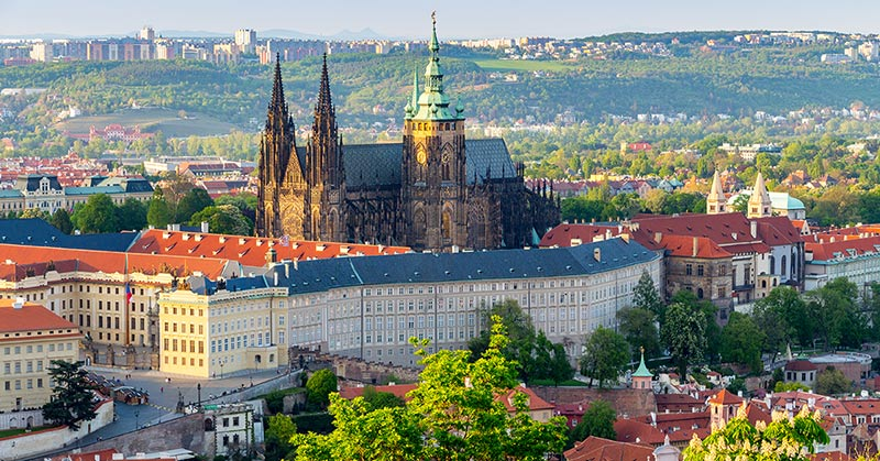 Pragborgen - slottet i Prag